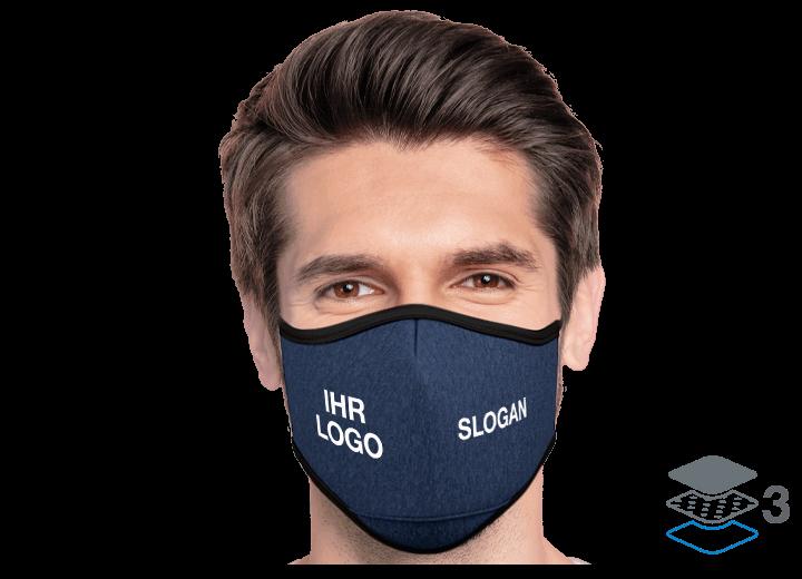Denim - Mundschutzmasken mit Logo