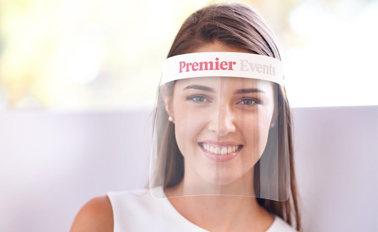 Barrier - Gebrandete Gesichtsschutzschilde