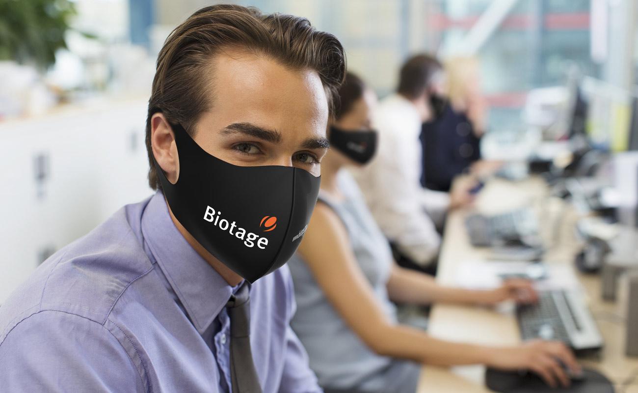 Neo - Schutzmasken mit Logo
