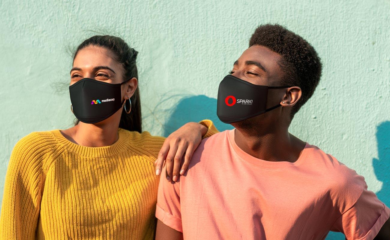 Sky iON - Mundschutzmasken mit Logo