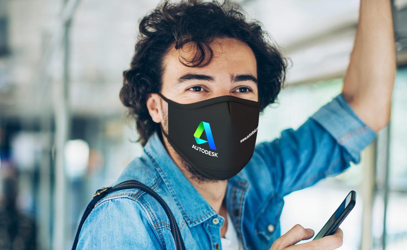 Sky iON - Mundschutzmaske mit Logo